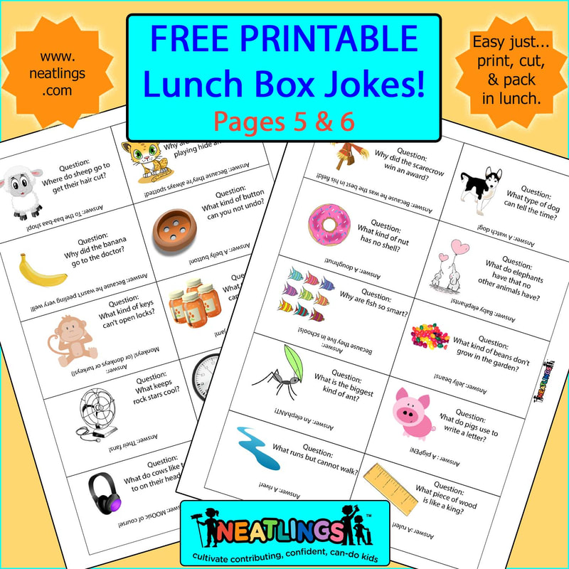 picture about Lunch Box Jokes Printable called 60 Absolutely free Printable Lunch Box Observe Jokes - NEATLINGS