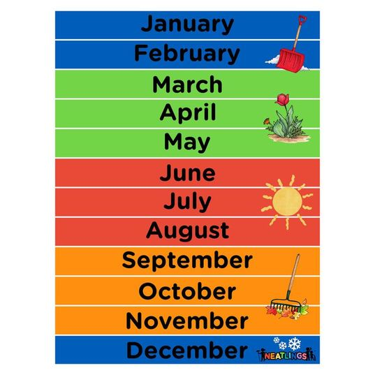 photo relating to Months of the Year Printable identified as Absolutely free Printable Weeks of the Yr Calendar - NEATLINGS