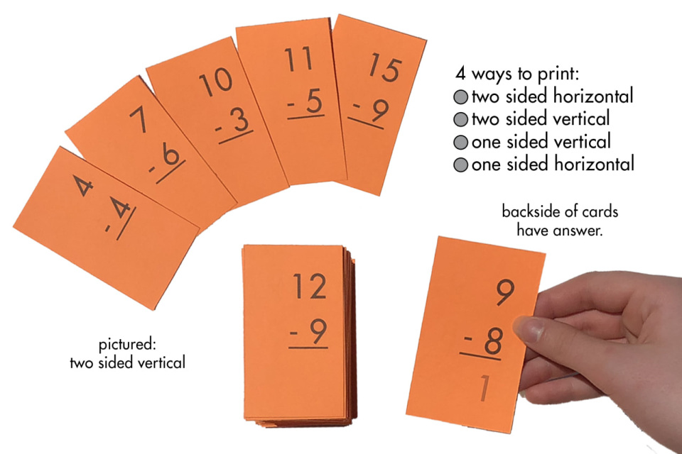 math flash cards all facts through 12 addition subtraction multiplication division plus. Black Bedroom Furniture Sets. Home Design Ideas