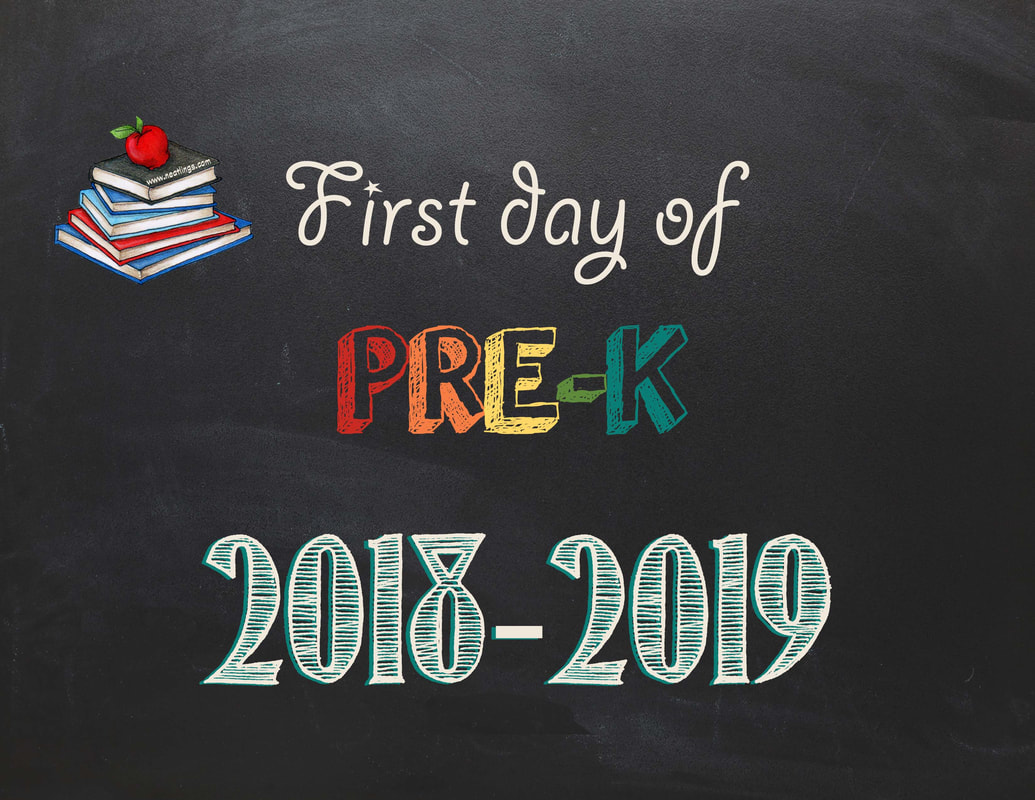 picture regarding First Day of Pre K Sign Printable known as Free of charge Printable Initial Previous Working day of Higher education Indicators 2018-2019