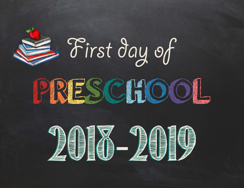 graphic relating to Last Day of Preschool Sign Printable referred to as Free of charge Printable Initially Closing Working day of College Signs and symptoms 2018-2019