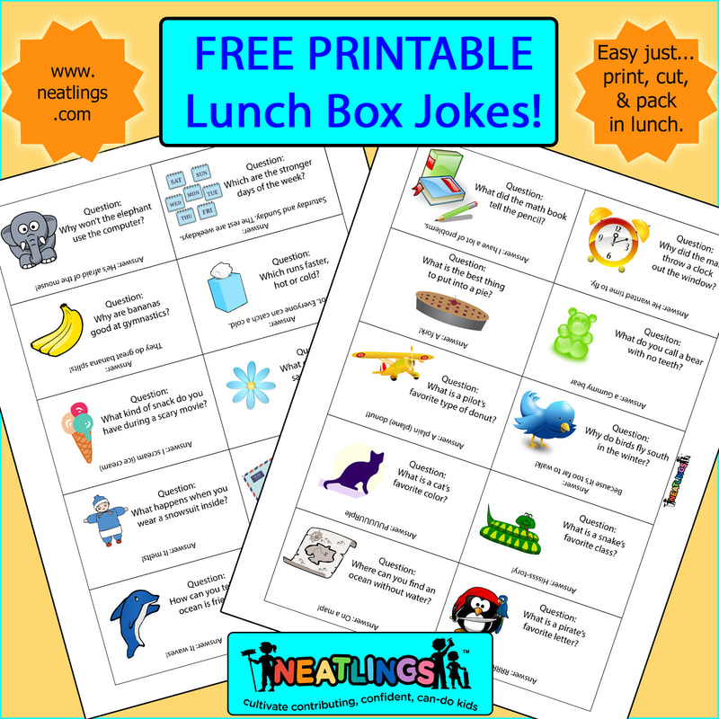 Lunch Box Jokes - Free Printable